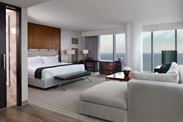 modern and sleek look bedroom design