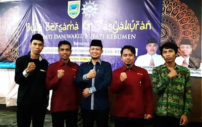 Foto bersama BEM , IMM STT Muhammadiayh Kebumen dengan Wakil Bupati Kebumen H Arif Sugiyanto SH