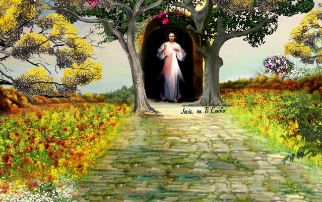 jesus en el bosque