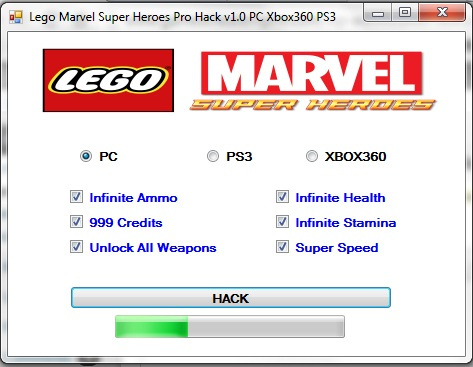 Lego Marvel Super Heroes Pro Hack v1 0 PC Xbox360 PS3 - Game