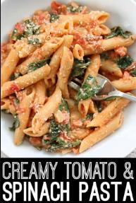 Creamy Tomato Aan Spínach Pasta