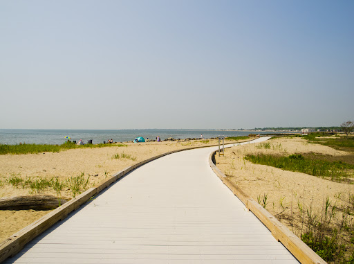 Boardwalk to Walnut Beach at Silver Sands State Park, Milford CT