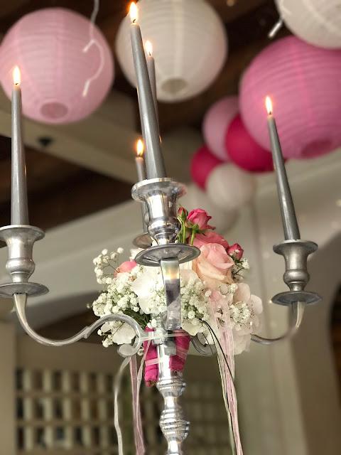 Silberleuchter, Hochzeit, , Riessersee Hotel, Garmisch-Partenkirchen, Bayern, Vintage, Rosen, Schleierkraut, Rosa, Pink, See und Berge