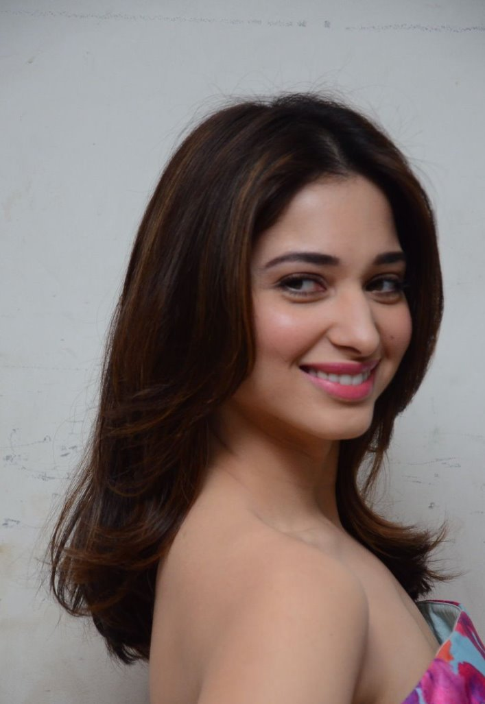 Beautiful Telugu Girl Tamannaah Long Hair Face Close Up Photos