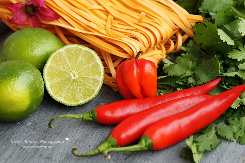 Zutaten für Thai Chili Nudeln mit Limette