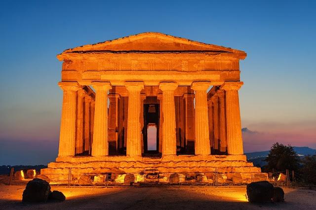 Templo dos Vales na cidade de Agrigento em Sicília