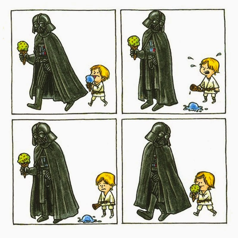 Darth Vader e hijo de Jefrey Brown, edita planetaComic Star Wars niños comic humor