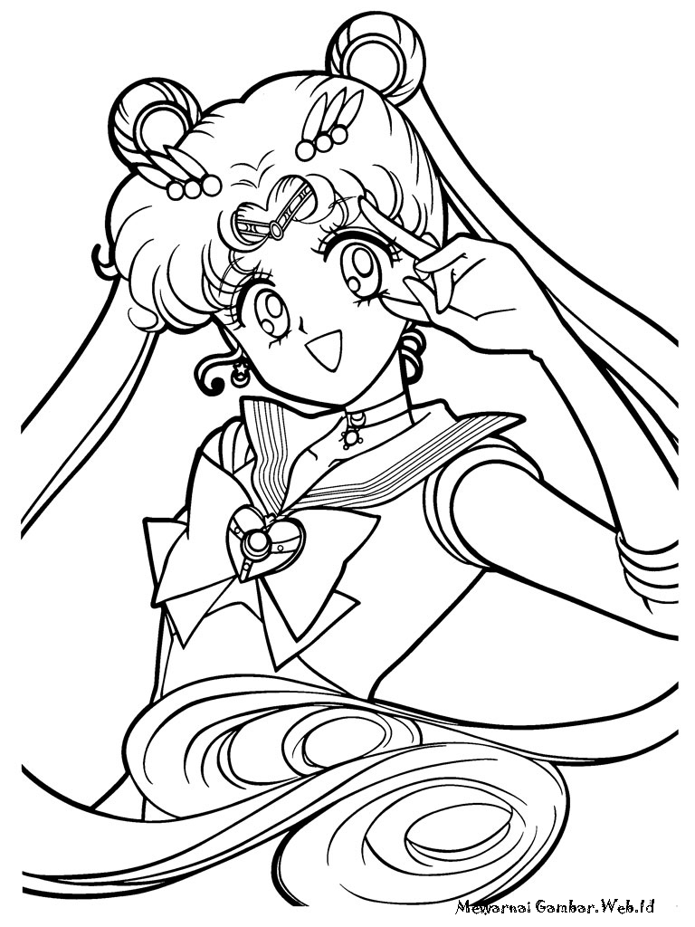 Mewarnai Gambar Sailor Moon  Mewarnai Gambar