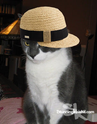 Stunning Straw Hat Model
