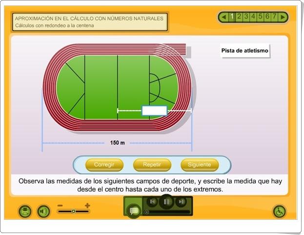 """""""Aproximación en el cálculo con números naturales"""" (Aplicación interactiva de Matemáticas de Primaria)"""