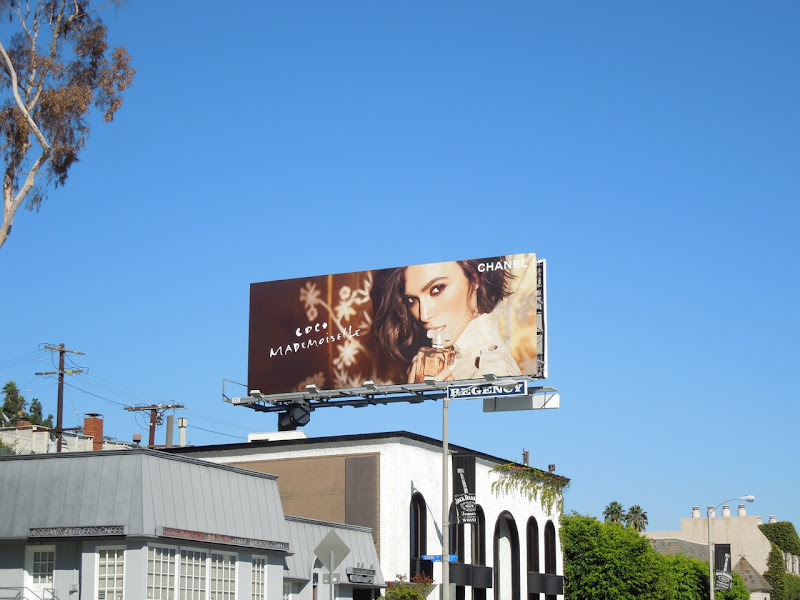 Coco Mademoiselle Chanel fragrance billboard