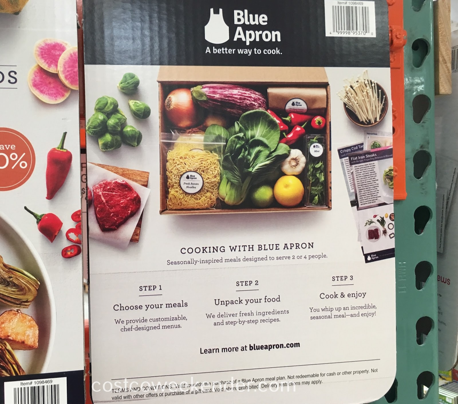 Costco 1098469 - Blue Apron: saves you the time of shopping and food prep for a good, healthy meal