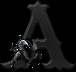 Abecedario Negro con Batman. Batman Alphabet.