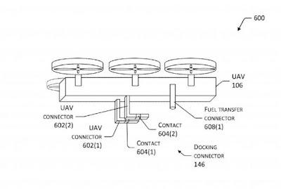Paten Drone pengisi daya mobil listrik dari Amazon