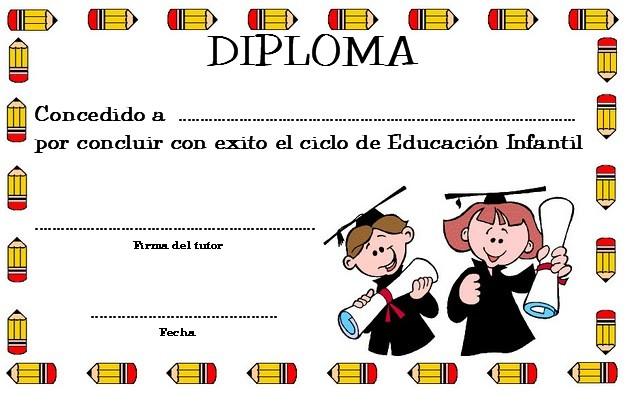 EL RINCÓN DE LOS PEQUES DIPLOMAS DE GRADUACIÓN DE EDUCACIÓN INFANTIL