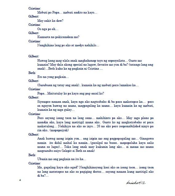 Radio drama script tagalog sample: csi miami season 4 episode 24.