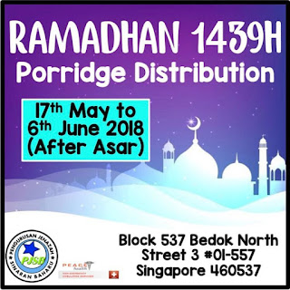 Source: PJSB Facebook. Porridge distribution poster.