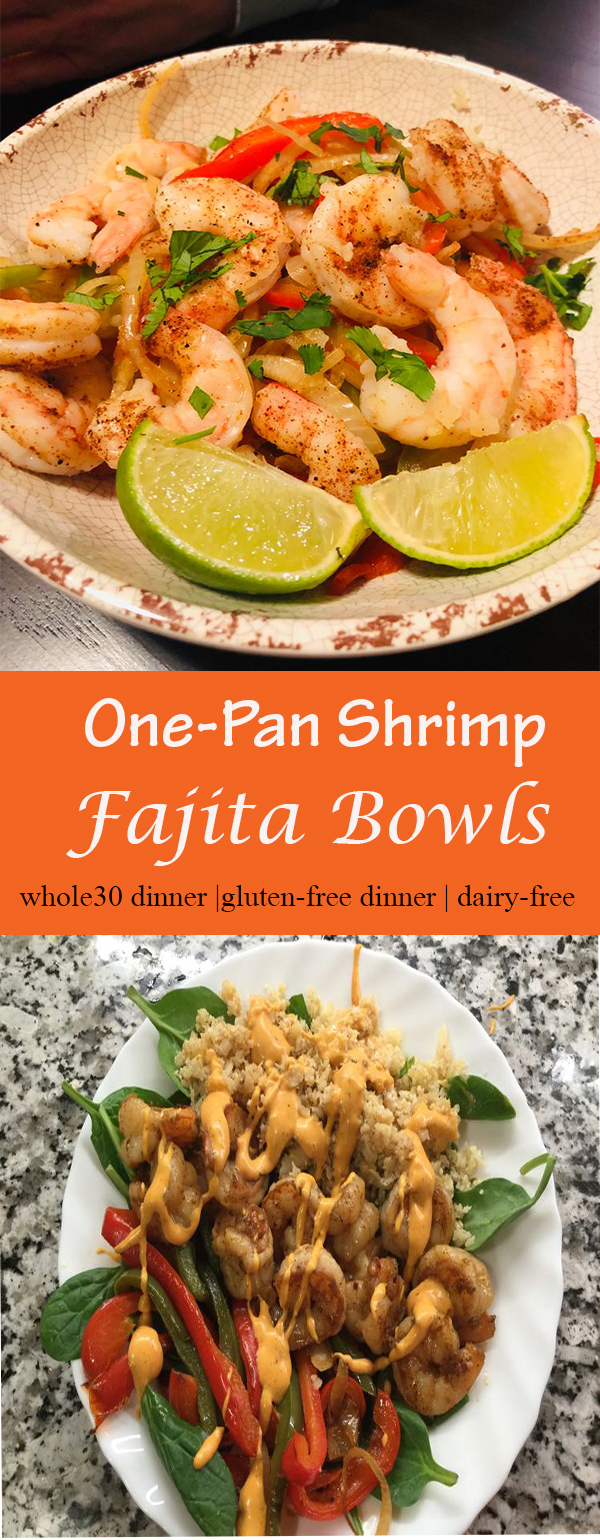 One-Pan Shrimp Fajita Bowls (Whole30)