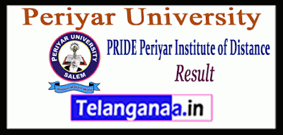 Periyar University Distance 1st 2nd 3rd Year Result