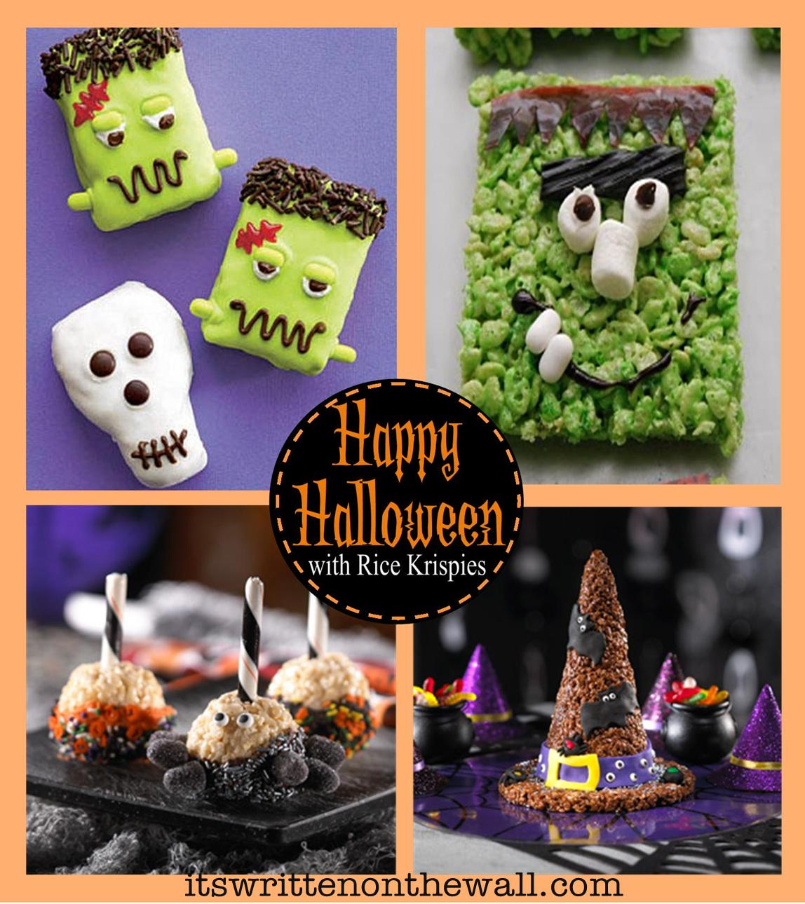 scaredy treats witch hat creepy rice krispies