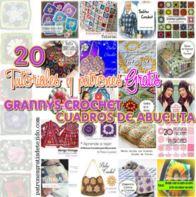 20 tutoriales y patrones para tejer con grannys