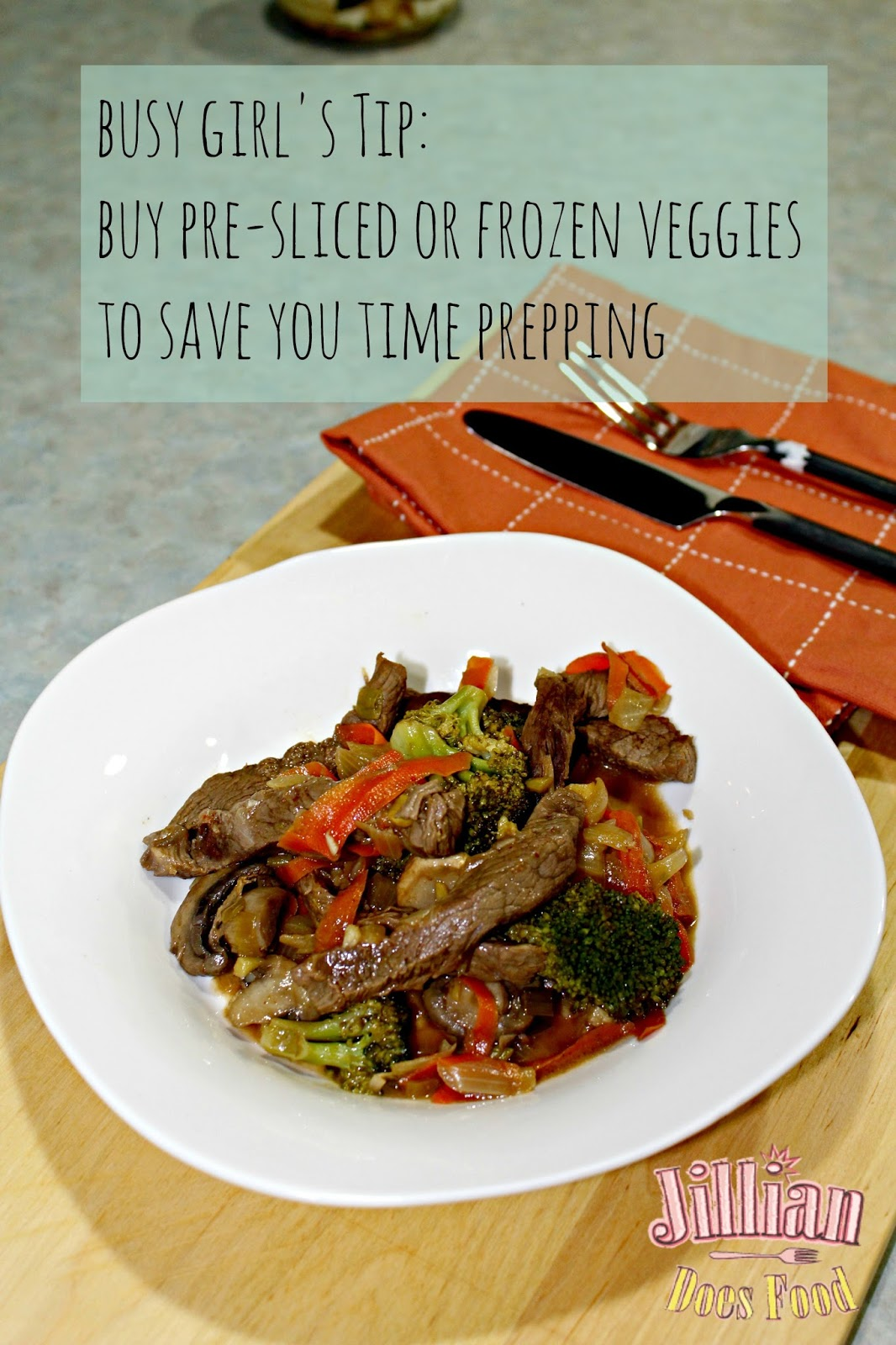 how to make steak stir fry with frozen vegetables