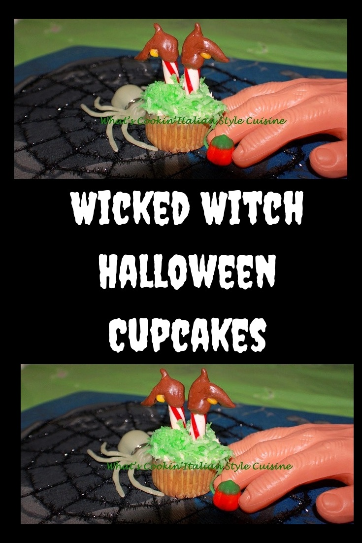 these are the boots recreated of the wicked witch of the east stuck upside down in a chocolate cupcake for Halloween Parties fun food . A recreation taken from the Wizard of Oz wicked witch of the East for this idea to make her boots upside down in a cupcake with candy