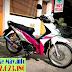 Sơn xe Honda Wave S màu trắng hồng