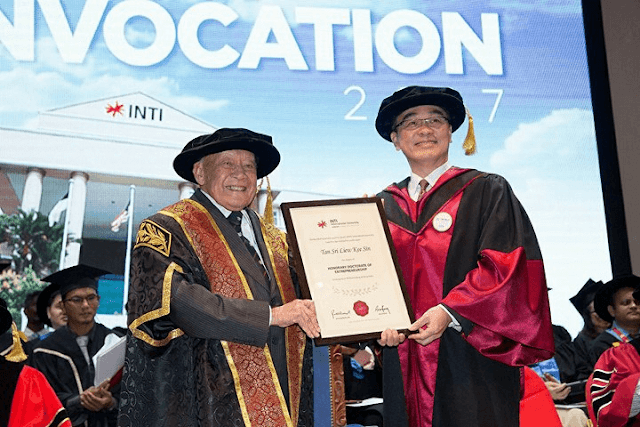 Tan Sri Liew Kee Sin, Honorary Doctorate Of Entrepreneurship, INTI International University,