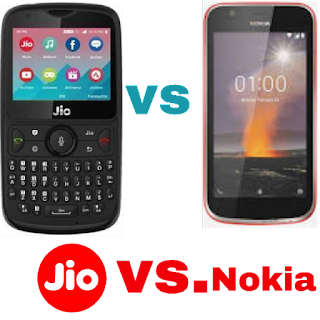 Jio Phone 2 vs Nokia 1