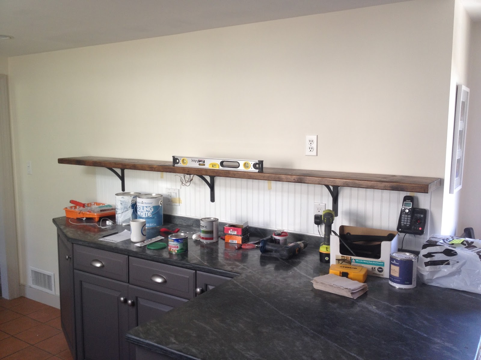 installing first shelf