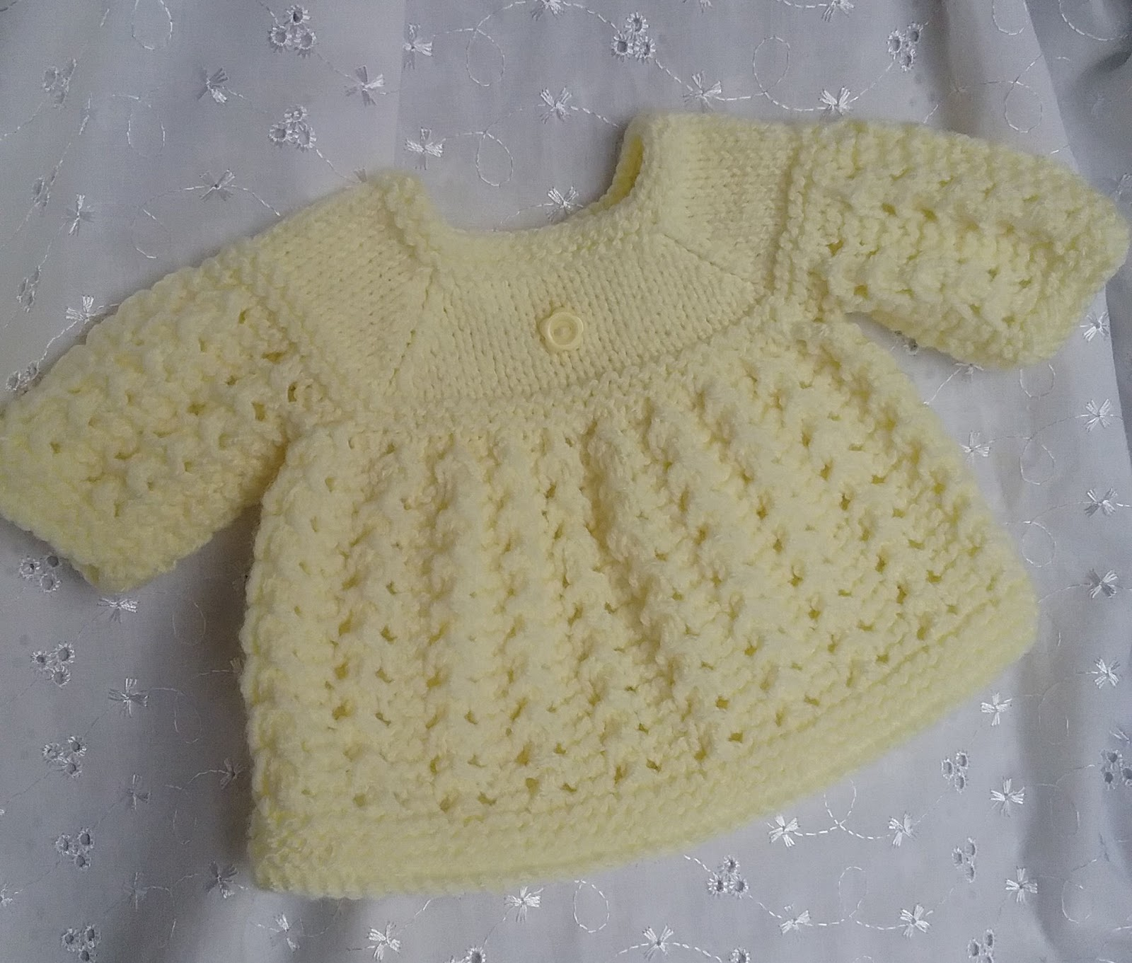 Linmary Knits Alice Matinee Jacket Dress Bonnet And Booties