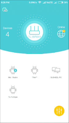 View connected devices tplink tether app