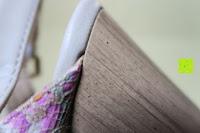 Absatz und Sohle: Alexis Leroy Blockabsatz Blume gedruckt Damen Offene Sandalen mit Keilabsatz
