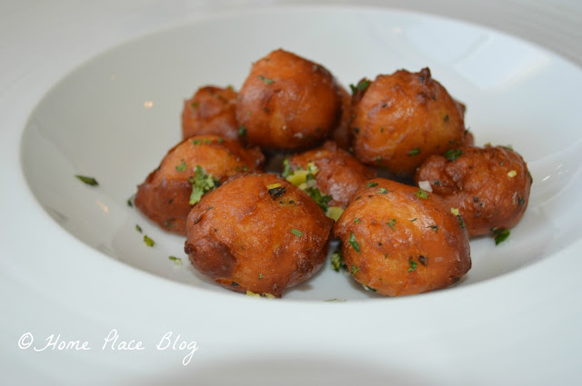 Parmesan Truffle Cheese Fritters, Gremolata