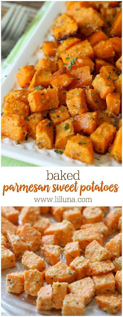 Baked Parmesan Sweet Potato