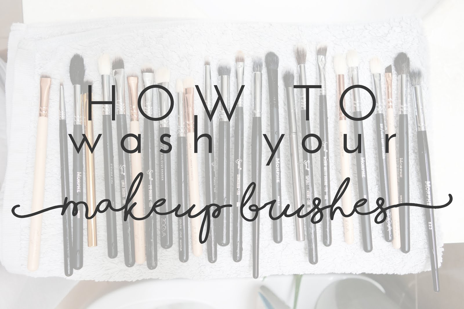 Tutorial, Demo on How To Wash / Clean Make Up Brushes