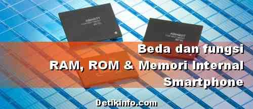 Apa itu ROM dan RAM di HP android serta Fungsinya