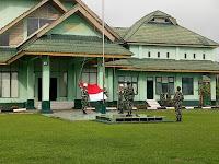 Awal Ramadhan Puluhan Prajurit  Kodim 0910/Malinau dan Jajaran Melaksanakan Upacara Mingguan