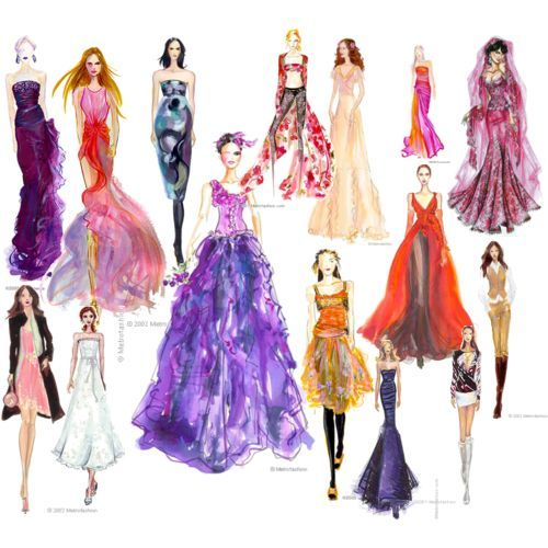 Hottest Fashion Style Fashion Sketches Template
