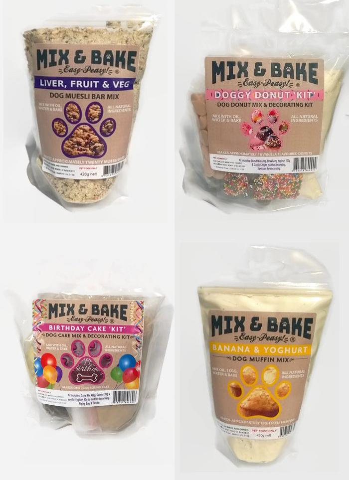 Superb Mix Bake Easy Peasy Dog Biscuits Australian Dog Lover Personalised Birthday Cards Veneteletsinfo