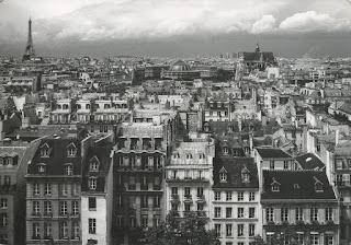postcard, rooftops, Haussmann