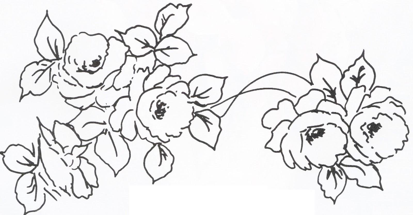 desenho de rosas para imprimir