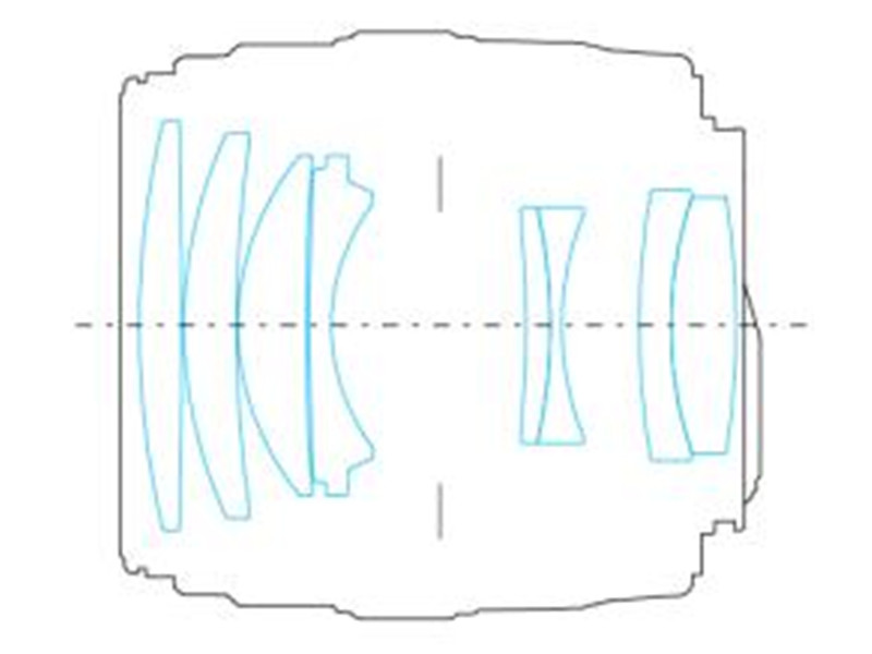 Оптическая схема объектива Yongnuo YN 100mm f/2