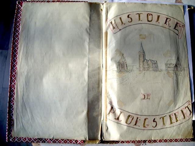Le manuscrit de l'Histoire de Ploegsteert, par Paul Rose, en 1935