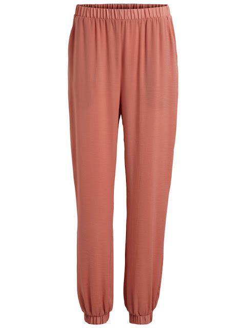 pantaloni di primavera rosa vila