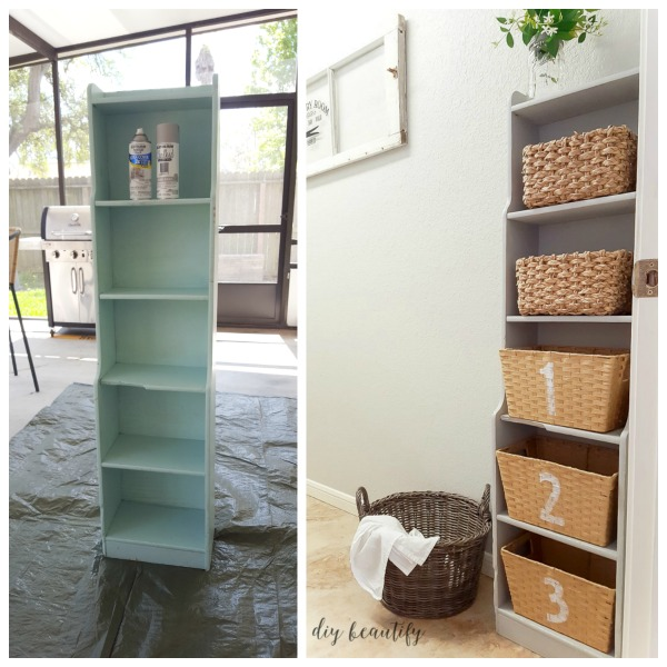 chalky painted cabinet before and after