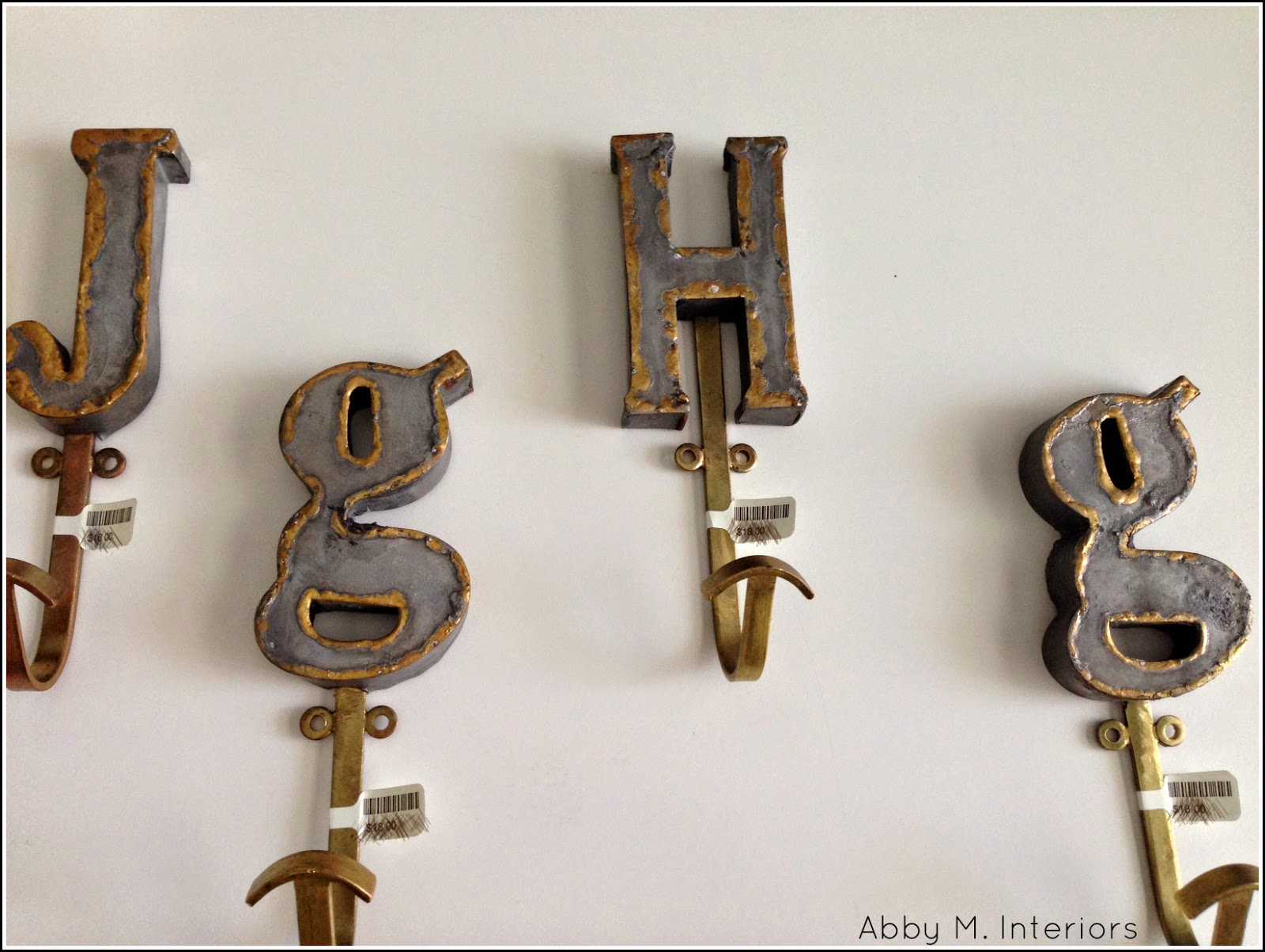 galvanized metal letters anthropologie abby manchesky interiors one room challenge week two 19022