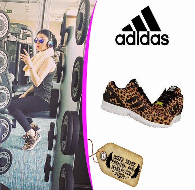 wholesale dealer f2ec3 fd98b ... where to buy haifa wehbe wore these zx flux torsion leopard print women  trainers by adidas