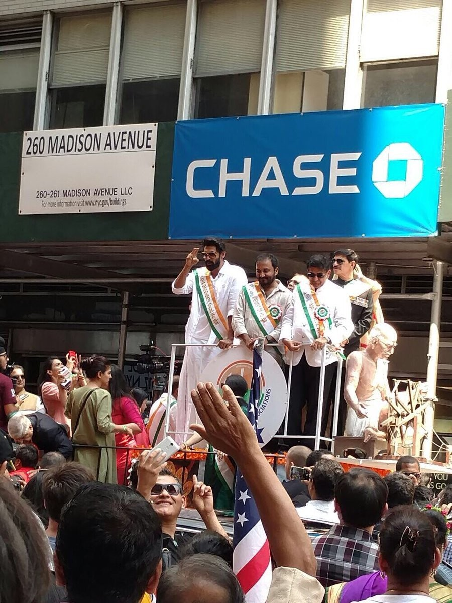 Rana Daggubati and Tamannaah Bhatia Participate In India Day Parade In NY